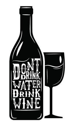 vector icono de vino negro sobre fondo blanco