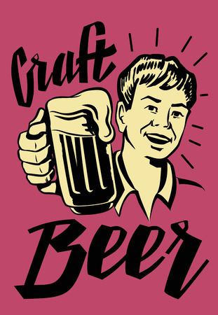 forties: vector black symbol of Retro Beer Guy