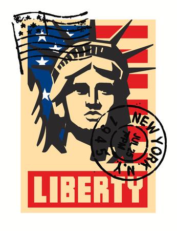 democracy: vector landmark and symbol of Freedom and Democracy