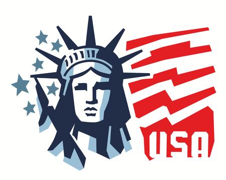 vector landmark and symbol of Freedom and Democracy