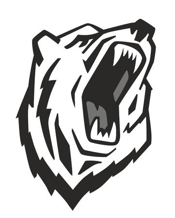 vector Angry draagt Hoofd op een witte achtergrond Vector Illustratie