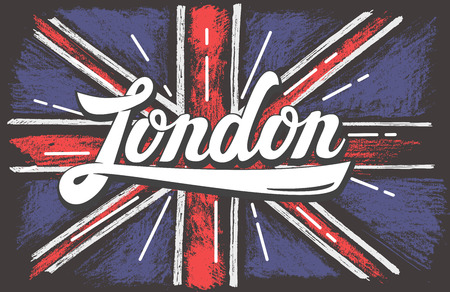 vector hand drawn color UK dirty flag