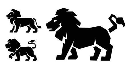 beast: black Lion icon on white background