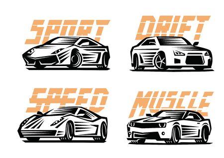 nitro: vector illustration of a sport cars emblem