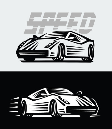 vector illustration of a sport cars emblem