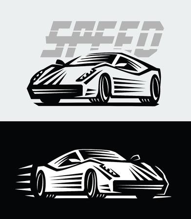game drive: vector illustration of a sport cars emblem