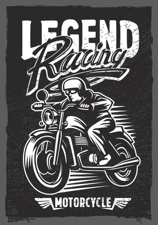 motorbike: motorbike t-shirt graphic, motorcycle grunge black vector