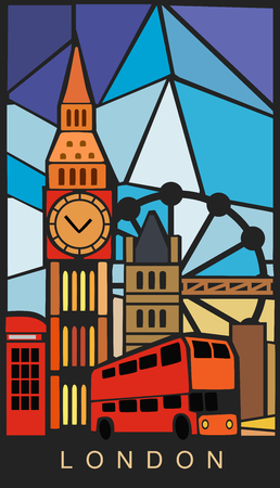 london england: london and England illustration on color background