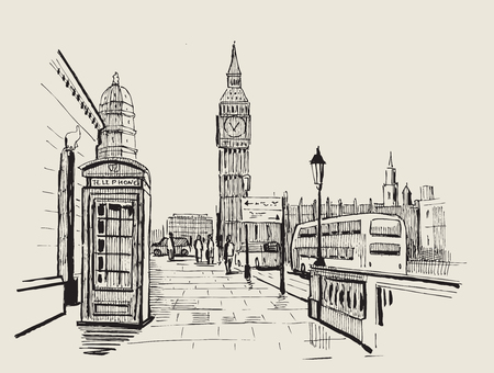 hand getekende landschap van Londen