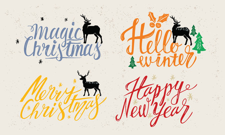 Greeting card design for Happy New Year