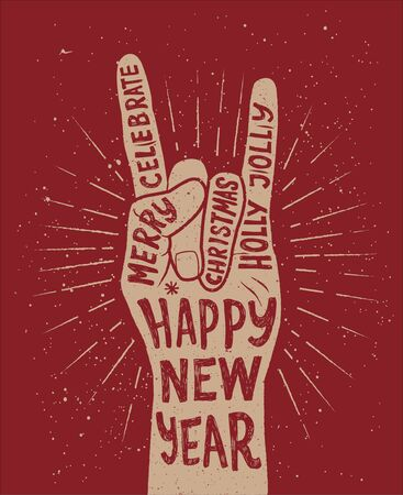 asian art: Greeting card design vector for Happy New Year