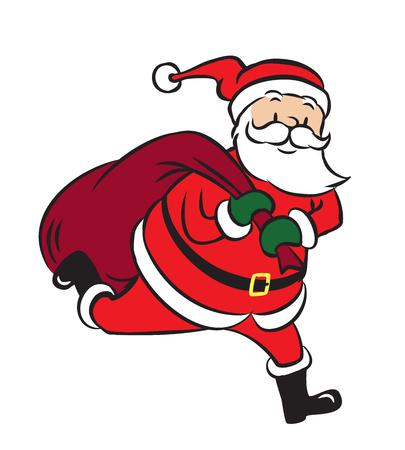 Santa Claus vector illustration on white background Illustration