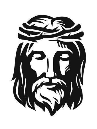 vector de la cara de Jesús Ilustración de vector