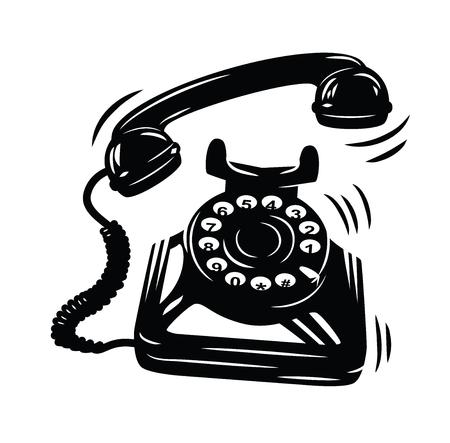 cable telefono: Teléfono icono vector