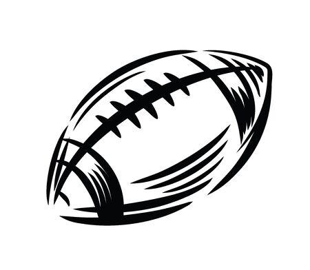 college footbal: black Football icon