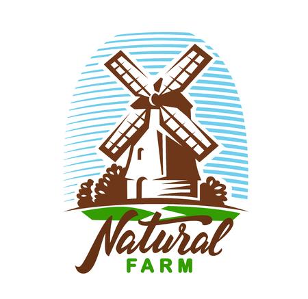 vector windmill emblem Stock Photo
