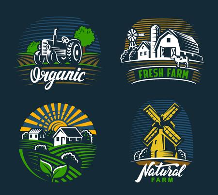 風景農業エンブレム