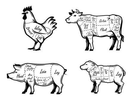 Slagers begeleiden symbolen