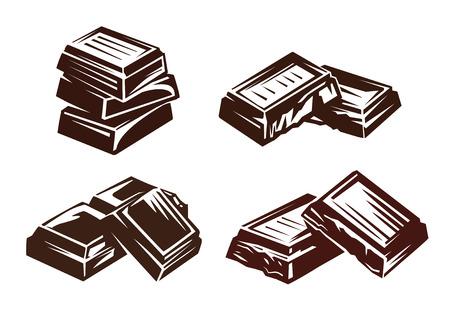 simbolo cioccolato Vettoriali