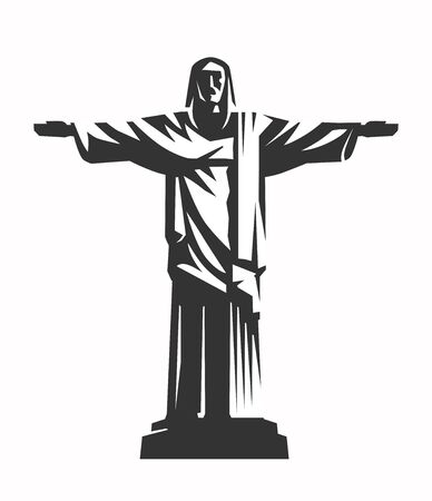 christ silhouette vector