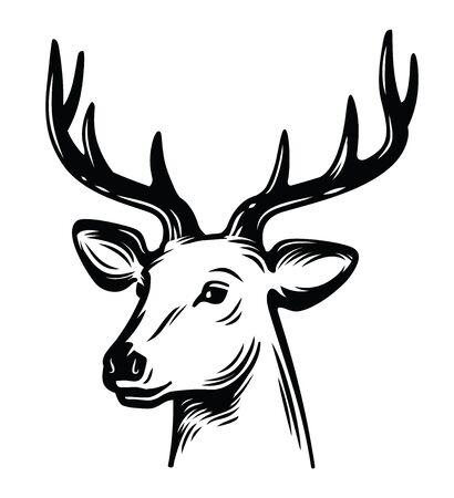 emblem young deer Illustration