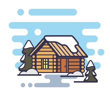 Wood house icon