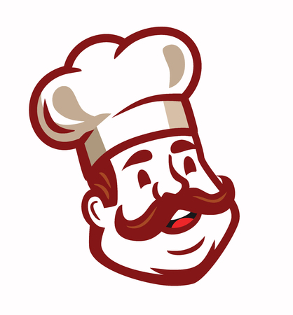 Red Chef icon emblem Illustration
