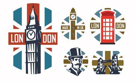 simple: Simple london flat illustration Illustration