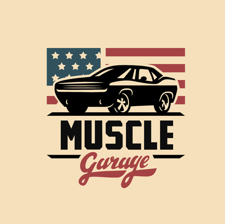 car speed: emblem muscle car