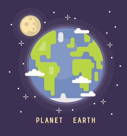 green environment: Earth Day vector Illustration