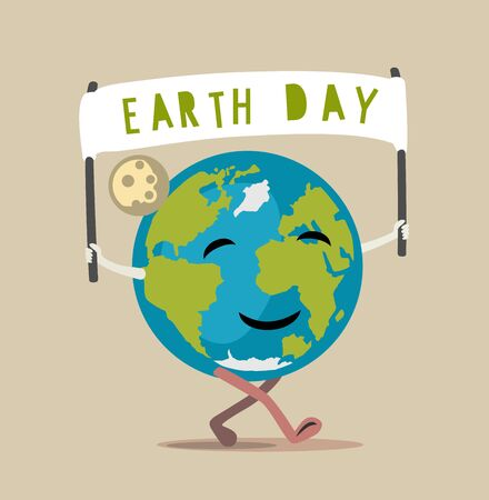 blue abstract: Earth Day vector Illustration