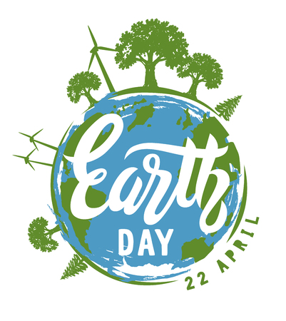 Earth Day vector  イラスト・ベクター素材