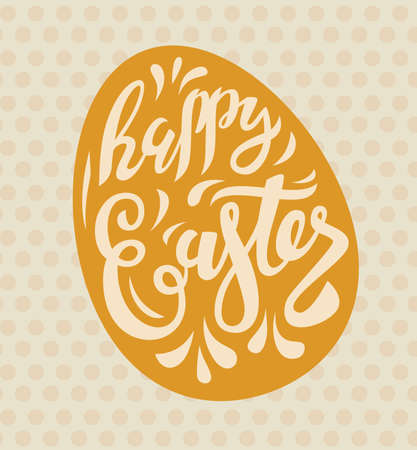 note paper: vector easter poster