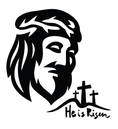 cross: Vector Face of Jesus