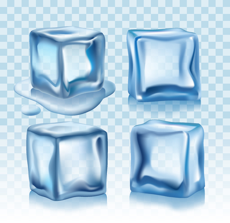 shiny: Ice cubes vector Illustration