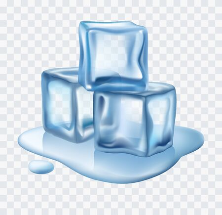 Ice cubes vector Vectores