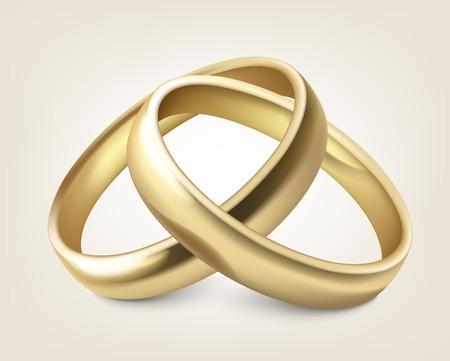 Vector anillos de boda