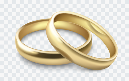 vector wedding rings Stok Fotoğraf - 77974837