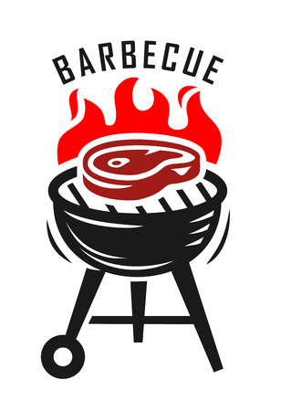 plate: vector bbq grill