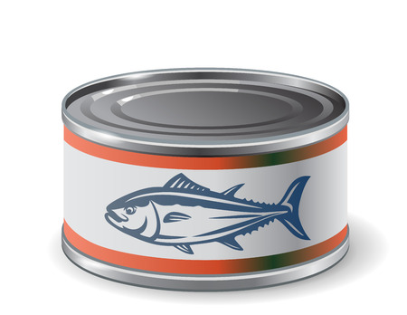 storage box: packing can of salmon