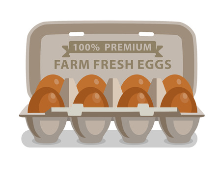 raw egg: vector illustration eggs