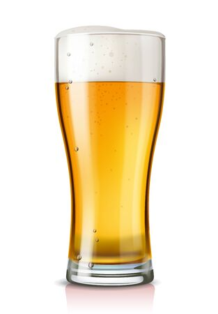 cold: vector glass of beer