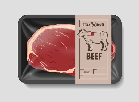 Vector illustration beef