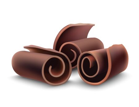 Chocolate shaving curl