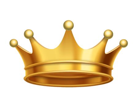 Vector rey corona de oro