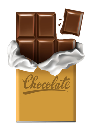 calorie: chocolate bar vector Illustration