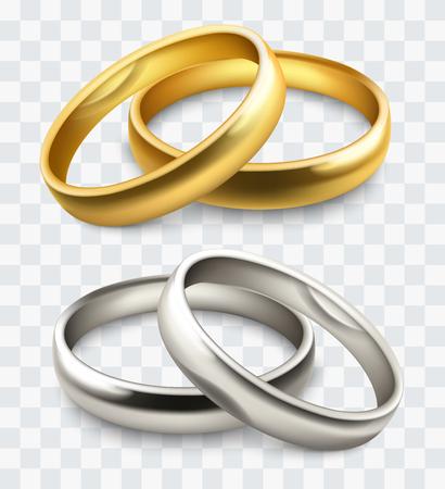 family holiday: Wedding rings vector illustration