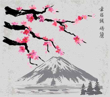 Takken en Fujiyama berg