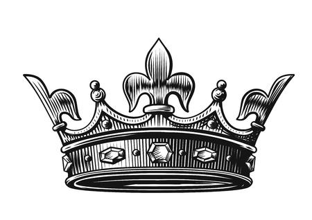 Vector Krone Hand gezeichnet