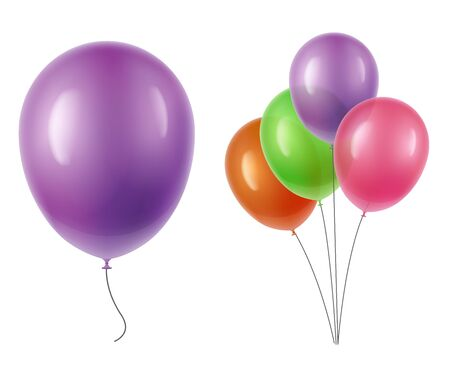 holiday party: Vector balloons transparency